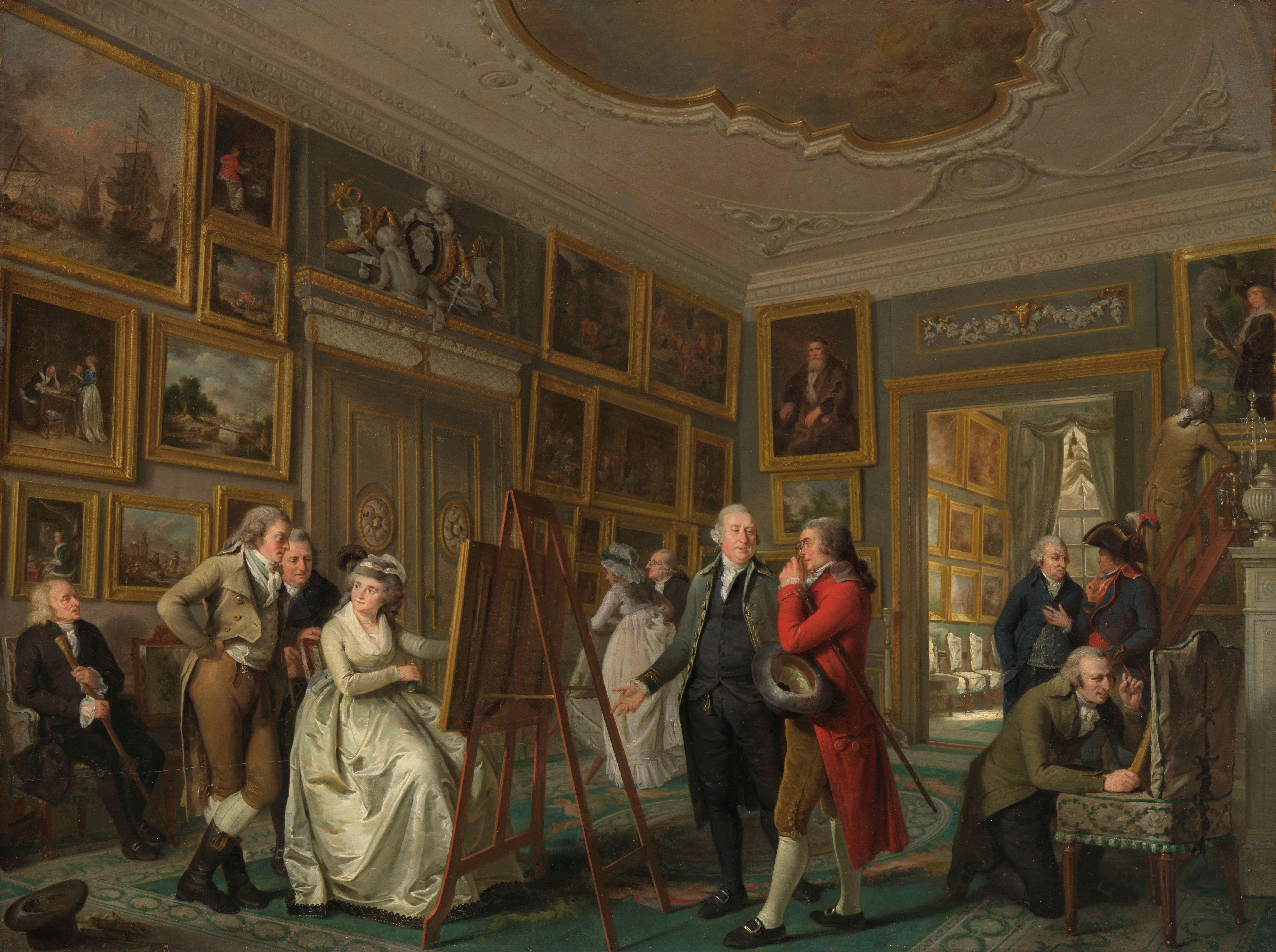 The Art Gallery of Jan Gildemeester Jansz, Adriaan de Lelie, 1794 - 1795. Amsterdam, Rijksmuseum.